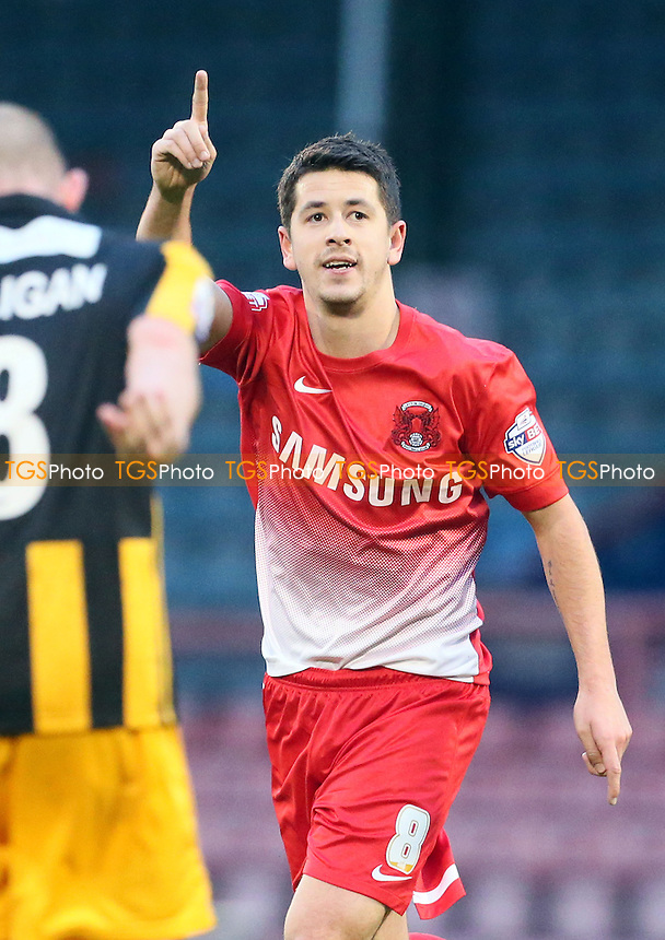 O's Lloyd James celbrates O's 3rd goal<br />  Leyton Orient v Southport - FA Cup Round One Football Match at the Matchroom Stadium Leyton London- 9/11/13 - MANDATORY CREDIT:Simon O&quot;Connor/TGSPHOTO - Self billing applies where appropriate - 0845 094 6026 - contact@tgsphoto.co.uk - NO UNPAID USE