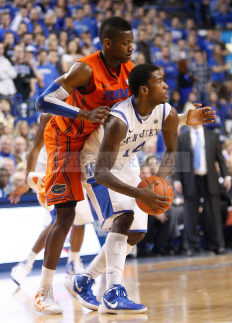 during the second half of the University of Kentucky Men's basketball game against University of Florida on 2/7/12 in Lexington, Ky. Photo by Quianna Lige | Staff