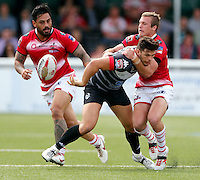 Alex Foster in action for London during the Kingstone Press Championship game between London Broncos and Leigh Centurions at Ealing Trailfinders, Ealing, on Sun June 26,2016