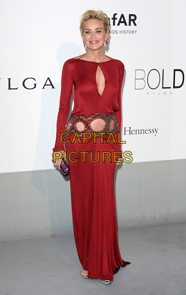 CAP D'ANTIBES, FRANCE - MAY 22: Sharon Stone attends amfAR's 21st Cinema Against AIDS Gala, Presented By WORLDVIEW, BOLD FILMS, And BVLGARI at the 67th Annual Cannes Film Festival on May 22, 2014 in Cap d'Antibes, France. <br /> CAP/CAS<br /> &copy;Bob Cass/Capital Pictures