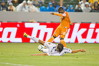 The Houston Dynamo defeated the Los Angeles Galaxy 1-0 during a Major League Soccer (MLS) at Home Depot Center stadium in Carson, California on Sunday May 5, 2013.