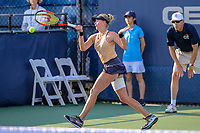 Washington, DC - August 3, 2019:  Fanny Stollar (HUN) hits a forehand shot during the  Women Doubles finals at William H.G. FitzGerald Tennis Center in Washington, DC  August 3, 2019.  (Photo by Elliott Brown/Media Images International)