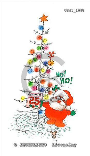 GIORDANO, CHRISTMAS SANTA, SNOWMAN, WEIHNACHTSMÄNNER, SCHNEEMÄNNER, PAPÁ NOEL, MUÑECOS DE NIEVE, paintings+++++,USGI1088,#X#