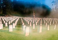 Confederate grave site in City Cemetery Vicksburg Mississippi