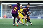 FC Barcelona vs Chelsea FC: 1-1.<br /> Andressa Alves, Beth England &amp; Melanie Perez.