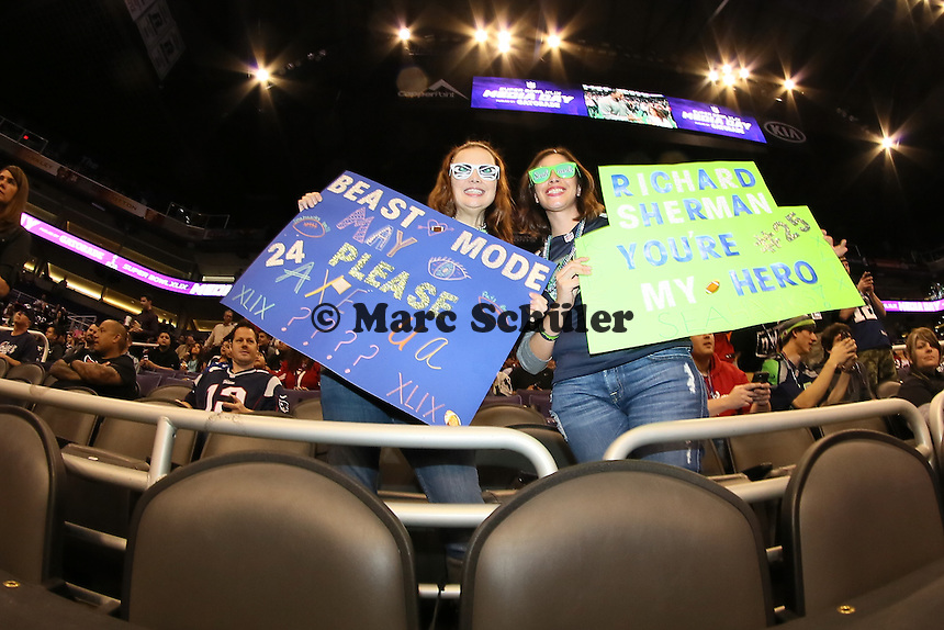 Fans der Seattle Seahawks - Super Bowl XLIX Media Day, US Airways Center, Phoenix