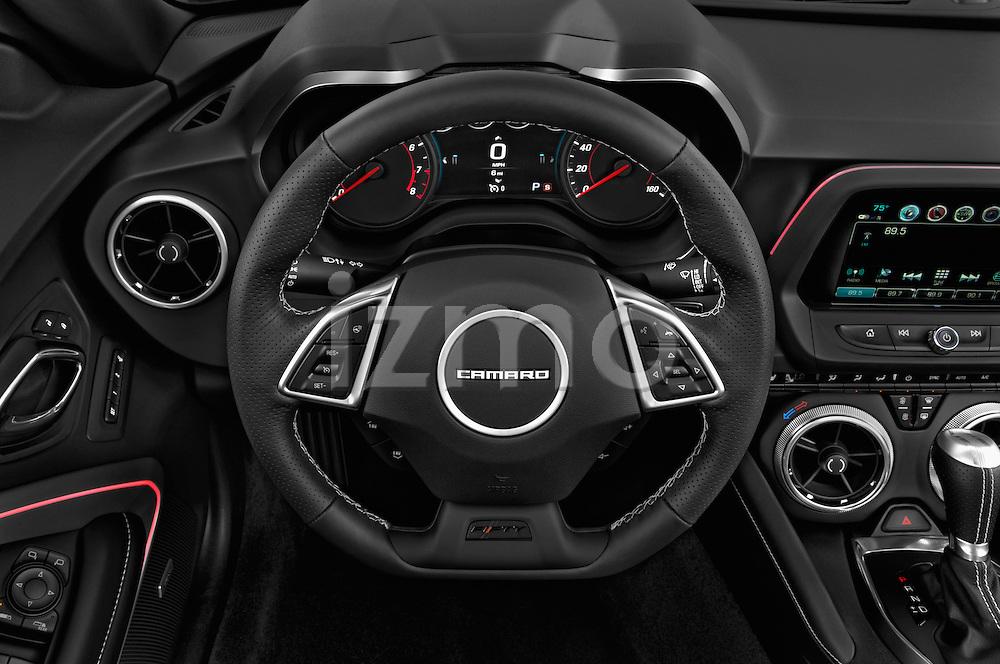 Car pictures of steering wheel view of a 2018 Chevrolet Camaro 2SS 2 Door Coupe Steering Wheel