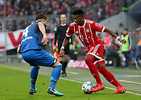 25.01.2018, Allianz Arena, Muenchen, GER, 1.FBL, FC Bayern Muenchen vs TSG 1899 Hoffenheim , <br />Ermin Bičakčić (Hoffenheim), David Alaba (Muenchen) *** Local Caption *** © pixathlon<br /> Contact: +49-40-22 63 02 60 , info@pixathlon.de