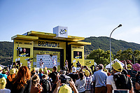podium with polka dot jersey Benoit Cosnefroy (FRA/AG2R La Mondiale)<br /> <br /> Stage 5 from Gap to Privas 183km<br /> 107th Tour de France 2020 (2.UWT)<br /> (the 'postponed edition' held in september)<br /> ©kramon