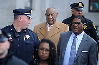 NORRISTOWN, PA - APRIL 12: Bill Cosby with publicist Andrew Wyatt at the Montgomery County Courthouse on the 4th day of his retrial for sexual assault charges on April 12, 2018 in Norristown, Pennsylvania. <br /> CAP/MPI/DVT<br /> &copy;DVT/MPI/Capital Pictures