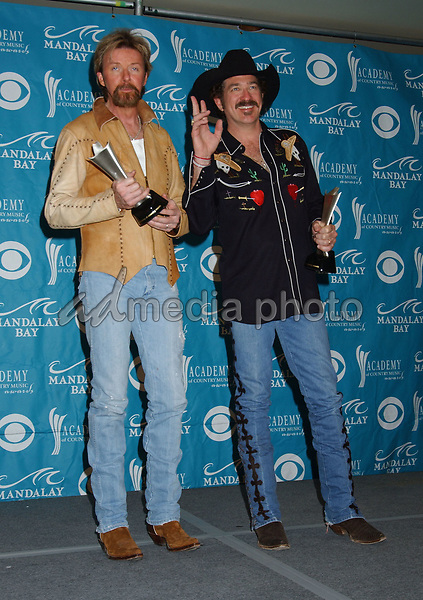17 May 2005 - Las Vegas, Nevada - Ronnie Dunn and Kix Brooks  of 'Brooks & Dunn'. The 40th Annual Academy of Country Music Awards (ACM) held at Mandalay Bay Resort & Casino. Photo Credit: Laura Farr/AdMedia