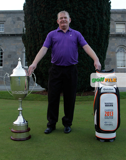 Seamus Langan winner of the Golf Digest Open during the Golf Digest Volvo Open Grand Final in Carton House Golf Club on Tuesday 5th October 2013.<br /> Picture:  Thos Caffrey / www.golffile.ie