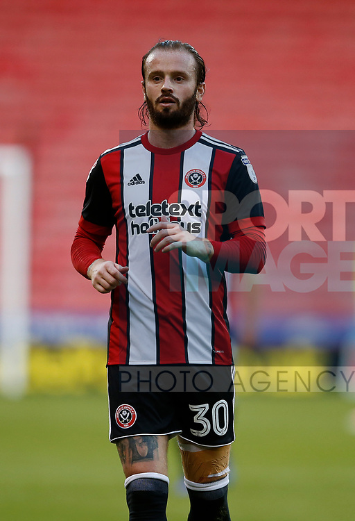John Brayford of Sheffield Utd during the Carabao Cup First Round match at Bramall Lane Stadium, Sheffield. Picture date: August 9th 2017. Pic credit should read: Simon Bellis/Sportimage