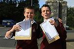 Jinior Cert Results 2010 Josh Purfield and Sean Corbett.Picture Fran Caffrey/www.newsfile.ie.