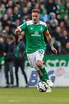 13.04.2019, Weserstadion, Bremen, GER, 1.FBL, Werder Bremen vs SC Freiburg<br /> <br /> DFL REGULATIONS PROHIBIT ANY USE OF PHOTOGRAPHS AS IMAGE SEQUENCES AND/OR QUASI-VIDEO.<br /> <br /> im Bild / picture shows<br /> Max Kruse (Werder Bremen #10) Kapit&auml;n / mit Kapit&auml;nsbinde, <br /> <br /> Foto &copy; nordphoto / Ewert