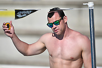 Italian swimming coach Christian Galenda during a training session.  <br /> Italian athletes were able to resume training last week after more than 50 days of lockdown due to the coronavirus (covid-19) pandemic <br /> Roma 12-5-2020 Centro Federale di Ostia <br /> Photo Andrea Staccioli / Deepbluemedia / Insidefoto