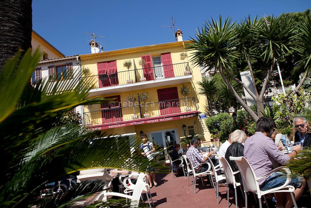 Jacques Maximin's restaurant 'Le Bistro de la Marine', Cagnes sur Mer, France, 07 April 2012. The restaurant occupies an 1869 fisherman's house on the seafront of Cagnes sur Mer.