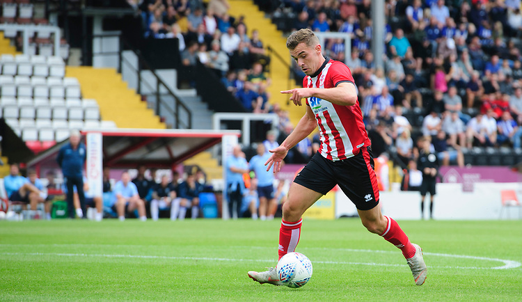 Lincoln City's Harry Toffolo<br /> <br /> Photographer Chris Vaughan/CameraSport<br /> <br /> Football Pre-Season Friendly - Lincoln City v Sheffield Wednesday - Saturday July 13th 2019 - Sincil Bank - Lincoln<br /> <br /> World Copyright © 2019 CameraSport. All rights reserved. 43 Linden Ave. Countesthorpe. Leicester. England. LE8 5PG - Tel: +44 (0) 116 277 4147 - admin@camerasport.com - www.camerasport.com