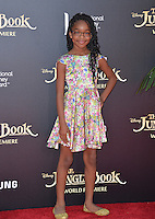 LOS ANGELES, CA. April 4, 2016. Actress Marsai Martin at the world premiere of &quot;The Jungle Book&quot; at the El Capitan Theatre, Hollywood.<br /> Picture: Paul Smith / Featureflash