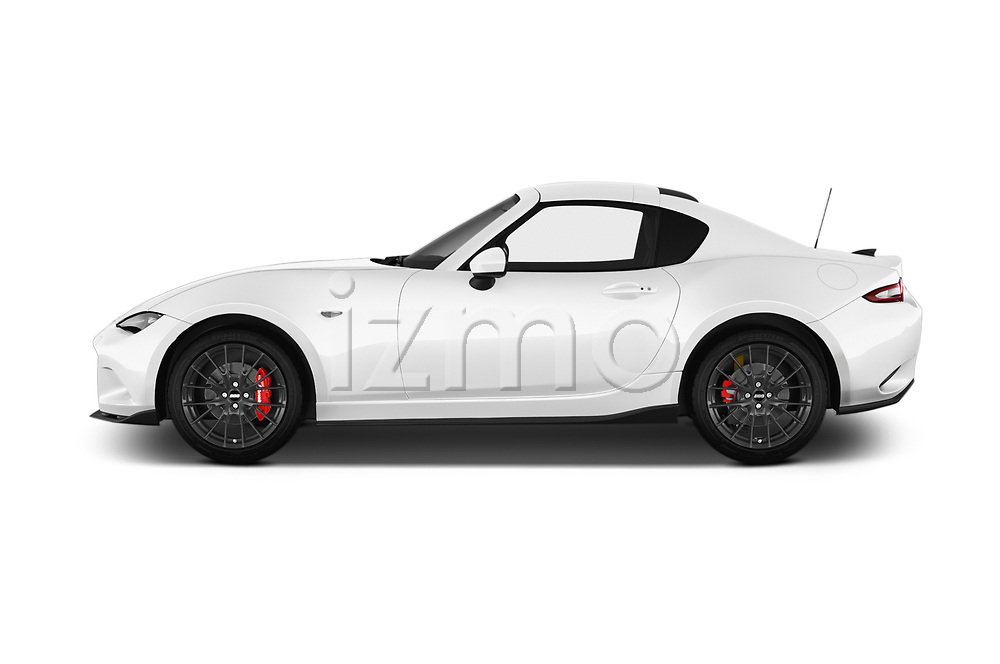 Car driver side profile view of a 2017 Mazda MX-5 RF First Edition 2 Door Targa
