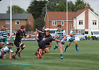 James Cordy Redden of Ealing Trailfinders during the RFU Championship Cup match between Ealing Trailfinders and Ampthill RUFC at Castle Bar , West Ealing , England  on 28 September 2019. Photo by Alan  Stanford / PRiME Media Images