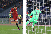1st December 2017, Stadio Olimpico, Rome, Italy; Serie A football. AS Roma versus Spal;  Goal scored by Kevin Strootman Roma