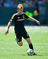 CARSON, CA – July 24, 2011: Dan Keat (15) of LA Galaxy during the match between LA Galaxy and Manchester City FC at the Home Depot Center in Carson, California. Final score Manchester City FC 1 and LA Galaxy 1. Manchester City wins shoot out 7, LA Galaxy 6.