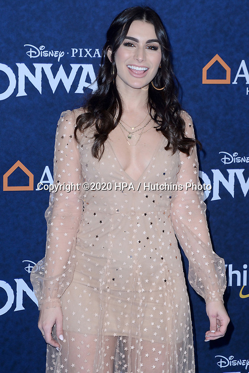 "LOS ANGELES - FEB 18:  Ashley Haibon at the ""Onward"" Premiere at the El Capitan Theater on February 18, 2020 in Los Angeles, CA"