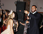 Kaitlin Wagoner (Miss Pomona) dances with Anthony Becht ,NFL player (Sports Celebrity Marshal) at the Soroptimist Grand Ball during the 32nd Annual Mountain State Apple Harvest Festival on October 15, 2011 at the Heritage Hall, Inwood, WV.  (Photo by Sue Coflin/Max Photos)
