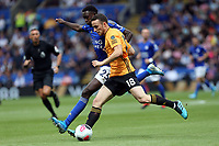 Wilfred Ndidi of Leicester City and Diogo Jota of Wolverhampton Wanderers during Leicester City vs Wolverhampton Wanderers, Premier League Football at the King Power Stadium on 11th August 2019