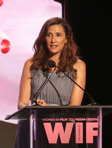 BEVERLY HILLS, CA June 13- Michaela Watkins, at Women In Film 2017 Crystal + Lucy Awards presented by Max Mara and BMW_Show at The Beverly Hilton Hotel, California on June 13, 2017. Credit: Faye Sadou/MediaPunch