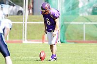 K Thomas Zampach (Universe) beim Kick-Off zu seiner Football Karriere bei Frankfurt Universe