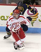 Johnathan Kovacevic (Merrimack - 8), Clayton Keller (BU - 19) - The visiting Merrimack College Warriors defeated the Boston University Terriers 4-1 to complete a regular season sweep on Friday, January 27, 2017, at Agganis Arena in Boston, Massachusetts.The visiting Merrimack College Warriors defeated the Boston University Terriers 4-1 to complete a regular season sweep on Friday, January 27, 2017, at Agganis Arena in Boston, Massachusetts.