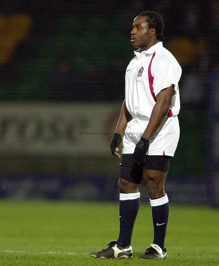 Photo. Richard Lane.England A v France A at Franklin Gardens, Northampton. 14/02/2003.Marcel Garvey