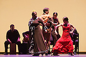 L-R: Laura Rozalén, Marco Flores, Mercedes Ruiz and Olga Pericet. Flamenco Festival London 2014 - Gala Flamenca, The Five Seasons. A regular feature at Sadler's Wells annual Flamenco Festival, this year's Gala Flamenca programme features some of the most exciting figures on the flamenco scene - Marco Flores, Olga Pericet, Laura Rozalén and Mercedes Ruiz - bringing together an array of talents and disciplines in one spectacular show.