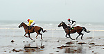 31-8-2014: Rock Hopper with Jack Kennedy beats Credit Push, Denis Lenihan  at the Glenbeigh Races on Rossbeigh Strand in County Kerry on Sunday.<br /> Picture by Don MacMonagle