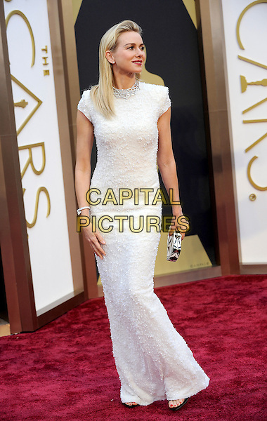 HOLLYWOOD, CA - MARCH 2: Naomi Watts arriving to the 2014 Oscars at the Hollywood and Highland Center in Hollywood, California. March 2, 2014. <br /> CAP/MPI/COR<br /> &copy;Corredor99/ MediaPunch/Capital Pictures