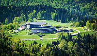 Deutschland, Bayern, Berchtesgadener Land, oberhalb Berchtesgaden: Kempinski Hotel Berchtesgaden, 5-Sterne-Luxus-Wellnesshotel in den Bayerischen Alpen   Germany, Upper Bavaria, Berchtesgadener Land, above Berchtesgaden: Kempinski Hotel Berchtesgaden, luxury 5 star resort in the Bavarian Alps