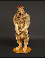 BNPs.co.uk (01202 558833)<br /> Pic: Bonhams/BNPS<br /> <br /> ***Please Use Full Byline***<br /> <br /> The lion suit used in the Wizard of Oz film.<br /> <br /> The iconic Cowardly Lion costume worn by famed actor Bert Lahr in timeless classic The Wizard of Oz has emerged for sale for a million pounds.<br /> <br /> Broadway star Lahr donned the outfit for his role as the big cat who lacked courage in the 1939 hit film alongside  child actor Judy Garland as Dorothy.<br /> <br /> The costume - made from two real lion hides stitched together - is being sold by film memorabilia collector James Comisar through Bonhams auction house.<br /> <br /> Experts are remaining tight-lipped about its exact value but say it to go for a &quot;seven-figure sum&quot; when it goes under the hammer in New York on November 24.