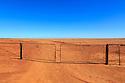 A dry dusty paddock on a sheep station. Western Australia.