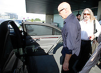 El actor norteamericano Bruce Willis llega a Barcelona para participar en una convencion de la Distribuidora cinematografica 'Fox'. -------------------------------EXCLUSIVE -------------------------------American actor Bruce Willis arrives in Barcelona to attend a convention from the film distributor 'Fox'. NORTEPHOTO.COM<br />