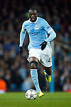 Yaya Toure of Manchester City during the UEFA Champions League match at the Etihad Stadium. Photo credit should read: Philip Oldham/Sportimage