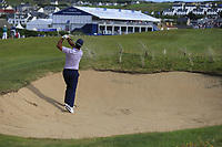 Jorge Campillo (ESP) plays his 2nd shot from a fairway bunker on the 18th hole during Thursday's Round 1 of the Dubai Duty Free Irish Open 2019, held at Lahinch Golf Club, Lahinch, Ireland. 4th July 2019.<br /> Picture: Eoin Clarke | Golffile<br /> <br /> <br /> All photos usage must carry mandatory copyright credit (© Golffile | Eoin Clarke)