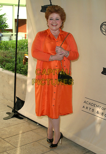 PATRIKA DARBO.Daytime Emmy Nominee Reception held at French 75 Warner Music Building, Burbank, California, USA..June 5th, 2007.full length orange dress black purse bag .CAP/ADM/CH.©Charles Harris/AdMedia/Capital Pictures