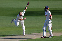 Zak Chappell in bowling action for Notts during Essex CCC vs Nottinghamshire CCC, Specsavers County Championship Division 1 Cricket at The Cloudfm County Ground on 14th May 2019