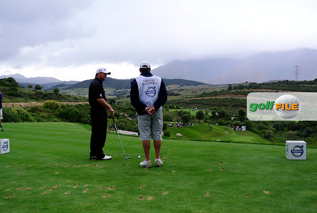 Graeme McDowell (NIR) prepares to tee off on the par3 10th tee during Sunday morning's Semi Final Matches of the Volvo World Matchplay Championship at Finca Cortesin, Casares, Spain 20th May 2012 (Photo Eoin Clarke/www.golffile.ie)