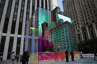 NOVA YORK, EUA, 09.09.2019 - APPLE-EUA - Vista do cubo de vidro da loja da Apple da Quinta Avenida que estava em obras desde 2017 em Nova York nos Estados Unidos nesta segunda-feira. (Foto: Vanessa Carvalho/Brazil Photo Press)