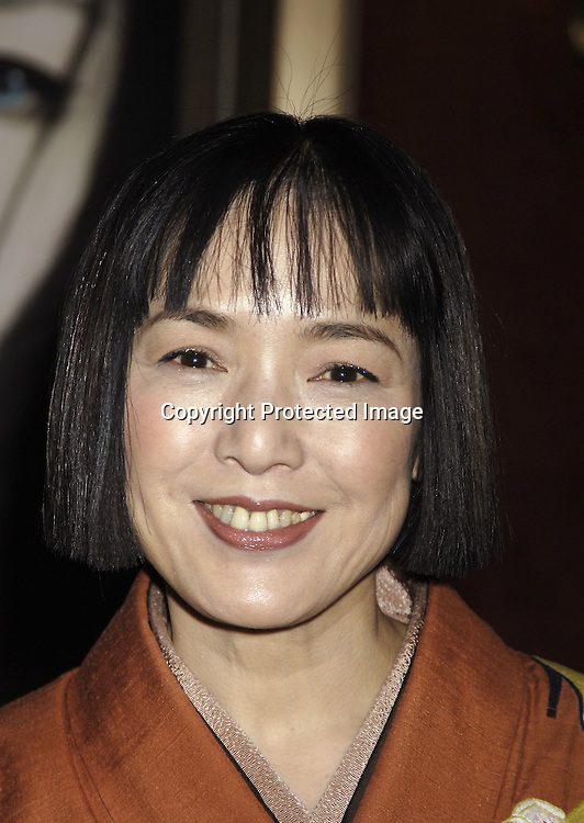 "Actress Kaori Momoi ..arriving at The New York Premiere of ""Memoirs Of A Geisha""  on December 6. 2005 at The Ziegfeld Theatre...Photo by Robin Platzer, Twin Images.."