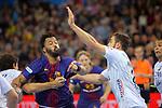 VELUX EHF 2017/18 EHF Men's Champions League Last 16.<br /> FC Barcelona Lassa vs Montpellier HB: 30-28.<br /> Timothey N'Guessan vs Baptiste Bonnefond.