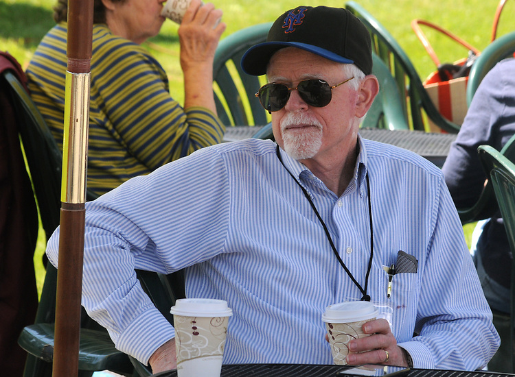 John Bassler, of the Market Committee, on duty at the Opening Day of the 2017 Saugerties Farmer's Market on Saturday, May 27, 2017. Photo by Jim Peppler. Copyright/Jim Peppler-2017.